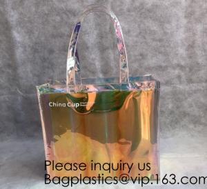 Wholesale HOLOGRAPHIC NEON TOTE PVC BAG,VINYL SHOPPING SHOPPER,TOILETRY BIKINI SWIMWEAR BEACHWEAR WOMAN BAG from china suppliers