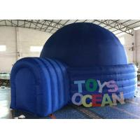 Wholesale Blue Commercial Used Advertising Dome Projection Tent With Tunnel , Inflatable Dome Tent from china suppliers