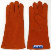 14 inch Split Leather Safety Welding Gloves Orange color