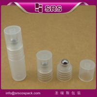 Wholesale SRS made in China 3ml refilled roll on plastic bottle with PP screw lid for sample eye gel from china suppliers