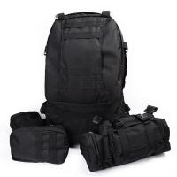 Quality Black Army Backpack / Tactical Hiking Backpacks With 3 Molle Bags for sale