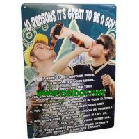 Wholesale A4 size tin bar sign tin poster metal advertising board for beer promotion from china suppliers