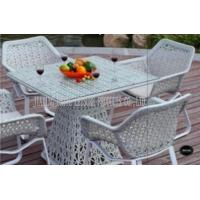 Wholesale White Indoor / Outdoor Patio Furniture Patio Table And Chairs Set For Conversation from china suppliers