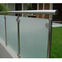 Wholesale Frosted Deck Railing Glass Panels , Glass Railings Outdoor Safety from china suppliers