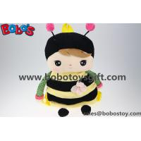 "Wholesale 19.6""Children's Cartoon Plush Backpack Backpack Bees Modelling for Kindergarten Pupils from china suppliers"