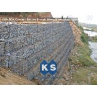 Wholesale Defense Gabion Retaining Wall Hexagonal Wire Mesh with Galvanized Wire 2.7MM from china suppliers