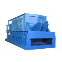 Horizontal Scrap Metal Shear With Feeding Conveyor , 1200mm Trapeziform Blade Length