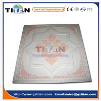 Embossed Hand-Painted Grg Colored Gypsum Ceiling Tiles