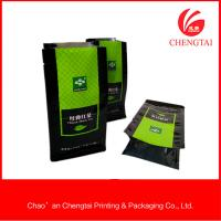 Wholesale 500g Tea Packaging Food Grade Flat Bottom Pouches Heat Sealing / Opaque from china suppliers