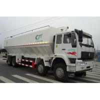 Wholesale SINO TRUK 8*4  300hp 40cbm electronic auger animal feed delivery truck for sale, howo brand animal feed truck for sale from china suppliers
