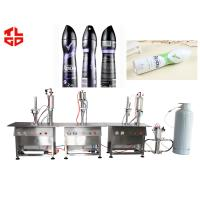 Wholesale Semi Automatic Aerosol Filling Machine, Deodorant Perfume Filling Machine from china suppliers