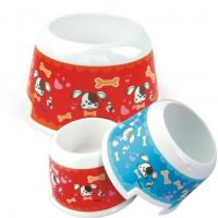 Wholesale Pet High Foot Melamine Dog Cat Bowl Washable Lightweight Food Grade from china suppliers