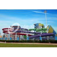 Wholesale 304 Stainless Steel Screw Fiberglass Water Slides 1m Width OEM for Water Park from china suppliers