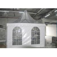 Wholesale Clear And White Pvc Fabric Top High Peak Party Tent Transparent Soft Window from china suppliers