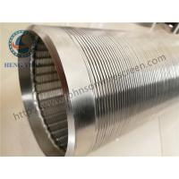 Wholesale Continuous Slot Johnson Screens Groundwater And Wells Wleded Rings End Connection from china suppliers