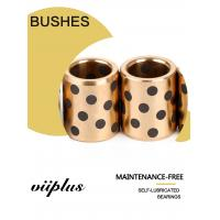 Buy cheap Inch Size Large Straight Bronze Graphite Plugged Bushings Extra Hardness from wholesalers