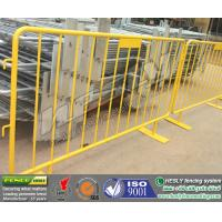 yellow PVC coated crowd control barriers