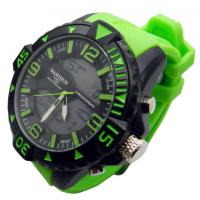 Wholesale Water Proof Mens Quartz Watches, Double Movement 3D Dial Silicone Strap from china suppliers