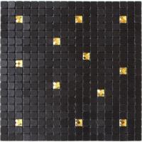 Wholesale Waterproof Black Self Adhesive Mosaic Wall Tiles , Peel And Stick Metal Tile Backsplash from china suppliers