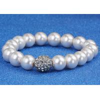 Wholesale Wedding Costume Pearl Bracelets For Bride / Bridesmaids With Gold Ball Diamonds from china suppliers