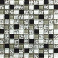 Wholesale Modern Design Glass Gold Mosaic Tiles 20x20mm For Decoration , Square from china suppliers