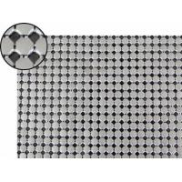 A piece of metallic fabric cloth with 6mm flat octagon shape and dull polished silver color.