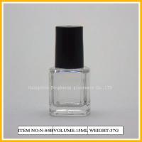 Wholesale 15ml Unique Square Nail Polish Containers , Round Containers With Cap from china suppliers