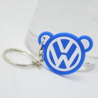 Wholesale Brand logo customized rubber logo embossed silicone key chain from china suppliers