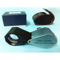 Wholesale Glass 10x Magnification Jewellers Loupe With White Led Light from china suppliers
