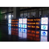 Quality Outdoor Scrolling LED Variable Message Signs Single Pillar Long Life Span for sale