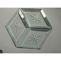 Wholesale Decorative Glass Engraved Mirror diamond glass clear glass from china suppliers