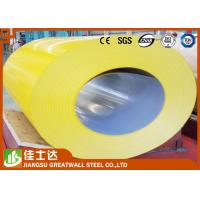 Wholesale Yellow / Light Gray Color Steel Coil For Warehouse , SGCC DX51D JIS S350 JD+Z from china suppliers
