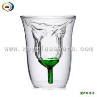 Wholesale Double walled glass Rose cup/lover cup from china suppliers