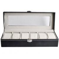 Wholesale Long Square Leather Window Leather Watch Gift Box With 6  Fabric Pillows from china suppliers