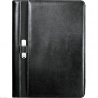 Wholesale Leeds Executive Stratford UltraHyde Black Zippered Padfolio / Writing Pad from china suppliers