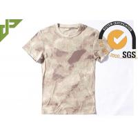 Wholesale Tactical Cool Army T Shirts 100% Cotton , Short Sleeve Combat Shirt Quick Dry from china suppliers