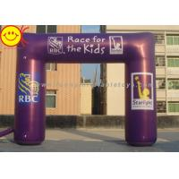 Wholesale Event Nylon Fabric Custom Purple Inflatable Race Arch With Banners 13ft - 50ft Wide from china suppliers