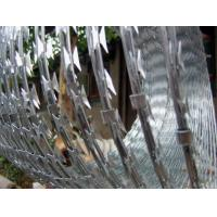 Wholesale Custom Hot Dip Coating Concertina Razor Wire , Spiral / Flat Razor Wire from china suppliers