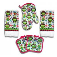 Wholesale Kitchen Towel Set 5 Piece Towels Pot Holders Oven Mitt Decorative Design Everyday Use from china suppliers