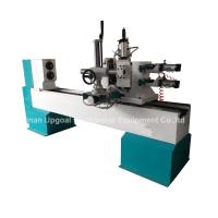 Buy cheap Turning Broaching Engraving Wood Lathe Machine with Double Axis Double Blade from wholesalers