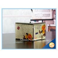 Wholesale Wedding Favor Mirror Glass Jewelry Box Wooden Inlay Custom Glass jewelry box from china suppliers