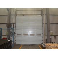 Wholesale 10m Width 6m height vertical up going overhead section doors with single steel panel from china suppliers
