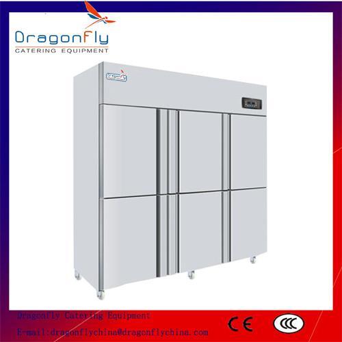 Big Volume 6 Door Commercial Refrigerator Stainless Steel