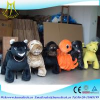 Wholesale Hansel giant plush animals kids riding coin operated amusement rides electric toys cars for kids battery operated ride from china suppliers