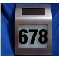 Wholesale solar door number plates from china suppliers