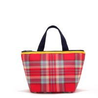 Wholesale Grid Insulated Soft Cooler Picnic Lunch Box Tote Bottle Bag Freezer Tote Handbag from china suppliers
