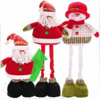 Wholesale Personalized 68cm Large ChristmasStuffed Snowman With Streaching Leg from china suppliers