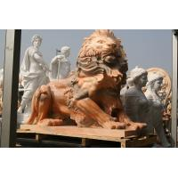 Quality Pink marble lions sculpture for sale