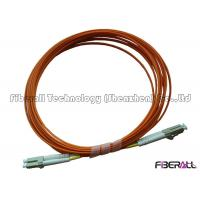 Wholesale Multimode Duplex Fiber Optic Jumper With Orange Fiber Optic Cable And LC Connector from china suppliers
