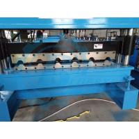 Quality Galvanized Steel Trapezoidal Roofing Roll Forming Machine With Hydraulic Decoiler for sale